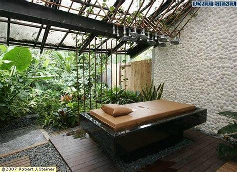 Garden Salon by Outdoor Garden Bath Attached To Each Treatment