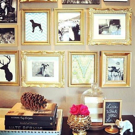 picture decorating gold frame collage wall home pinterest
