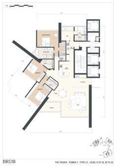 the troika floor plan sergison bates seebach housing buildings zurich 11