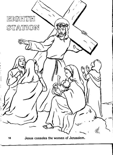 Stations Of The Cross Coloring Pages stations of the cross printable coloring pages az
