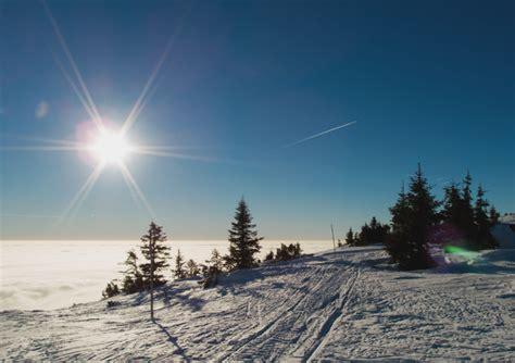 snow  blue sky  image  libreshot