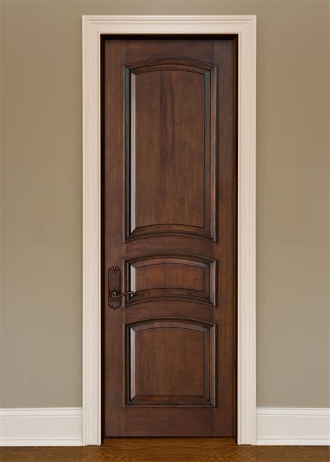 Interior Hardwood Doors Interior Door Custom Single Solid Wood With Walnut Finish Artisan Model Gdi 3030