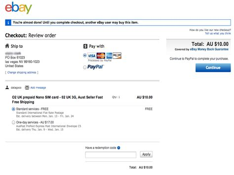 How To Pay With Gift Card On Ebay - how to buy pay as you go sim cards on ebay 4 steps