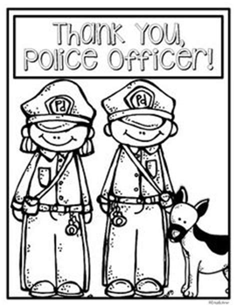 thank you coloring page for police officer police officer card idea thank you get well teacher