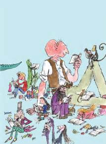 Japanese Minimalism roald dahl characters reading poster by quentin blake at