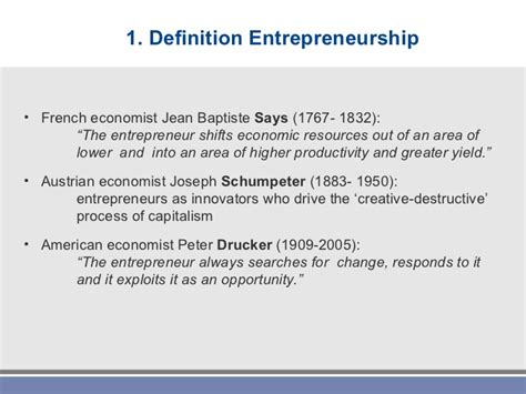 Entrepreneurship Lecture Notes For Mba by Image Gallery Entrepreneur Definition
