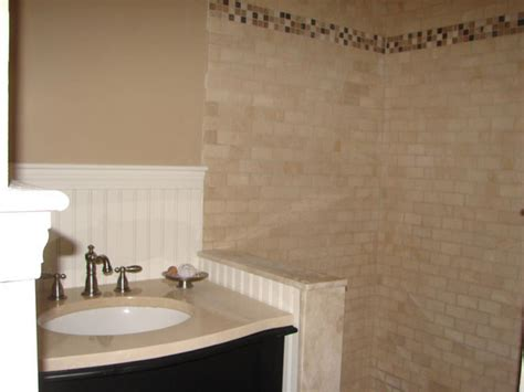installing tile floor in bathroom how to install tile in a bathroom shower hgtv