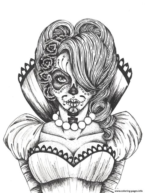 day of the dead skull coloring pages printable sexy sugar skull flowers coloring pages printable