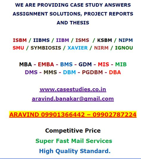 Mba Study Assignment Sle by Mba Study Answers November 2013