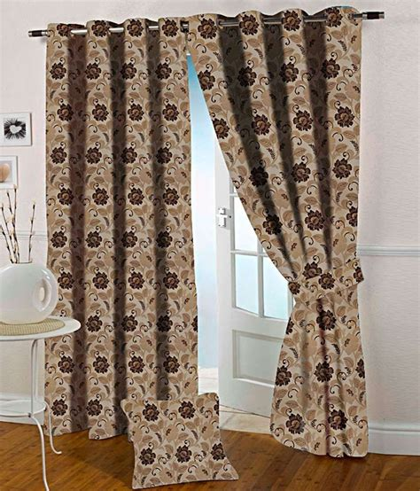 brown and beige curtains presto brown and beige floral polyester door curtain buy