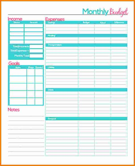 expense planner template monthly budget planner worksheet lesupercoin printables