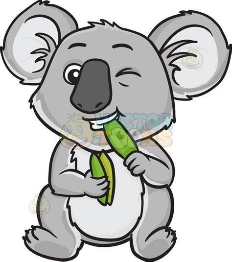 clipart koala a koala leaves clipart by vector