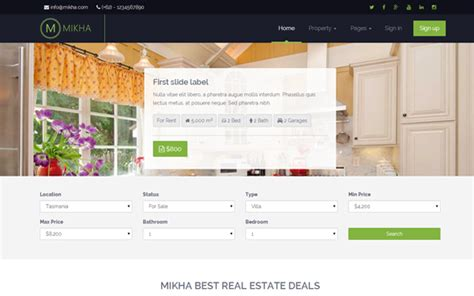 bootstrap themes real estate mikha responsive real estate theme other templates