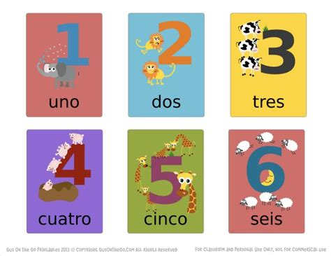 printable number flash cards in spanish stories by gus on the go spanish app for kids