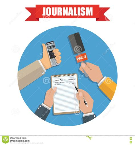 mass media and press conference journalism icon stock