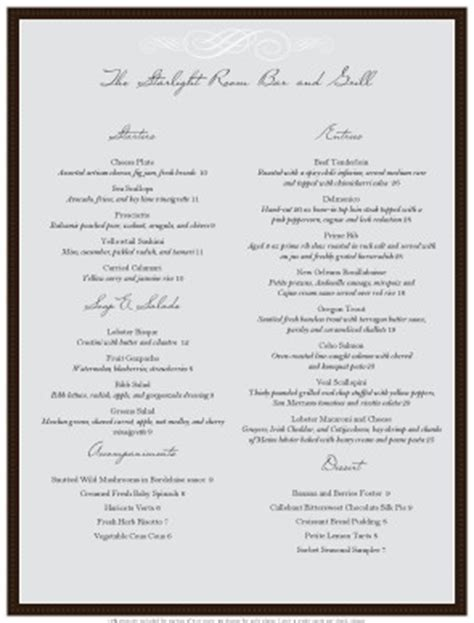 restaurant menu templates musthavemenus