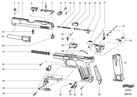 walther p22 parts diagram walther p22 exploded diagram walther ppk exploded view