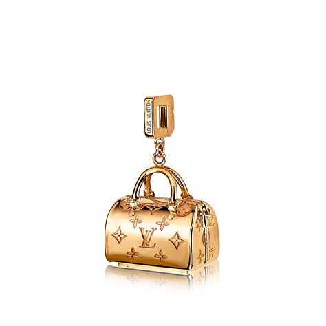 Speedy Empreinte charm, yellow gold   Fine Jewellery   LOUIS VUITTON