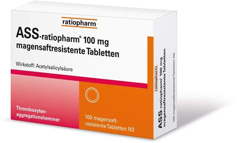 ass ratiopharm  mg  magensaftresistente tabletten