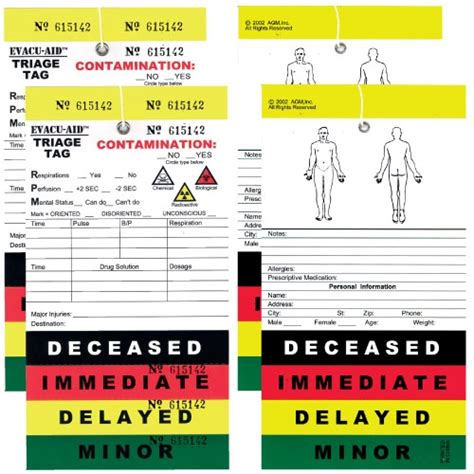 triage colors 50 pack triage tags color coded for mass casualty triage