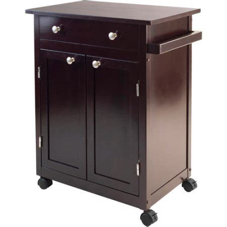 utility cabinet on wheels small espresso kitchen cart rolling cabinet drawer