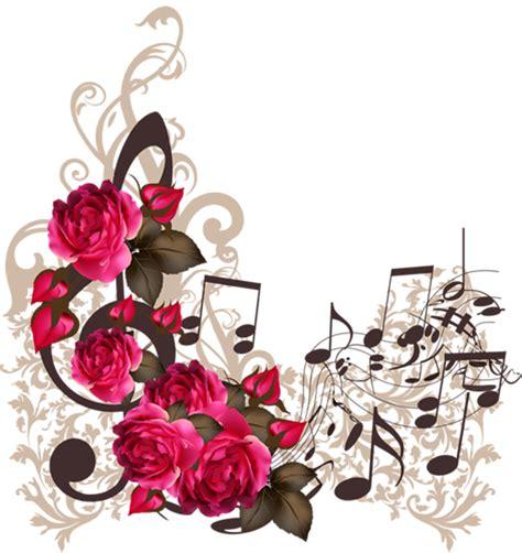 imagenes de rosas musicales imagen rosas rojas con notas musicales flores y m 250 sica