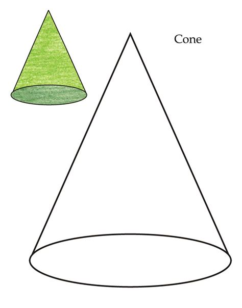 0 level cone coloring page download free 0 level cone
