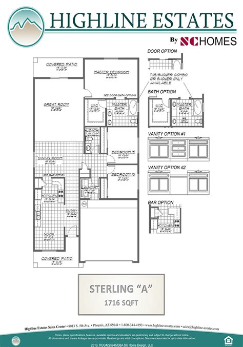 the sterling new home floor plans arizona