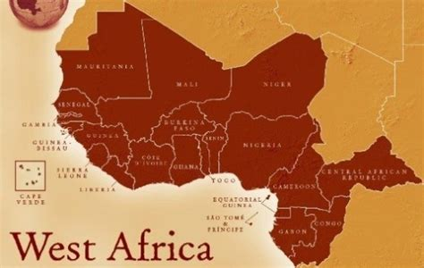 west africa map countries west countries list of countries in west africa