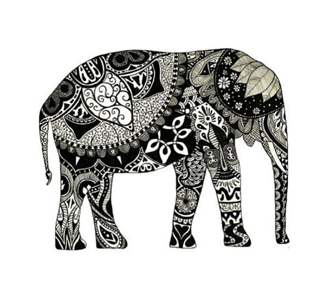 boho pattern drawing i want a little bohemian looking elephant for my room