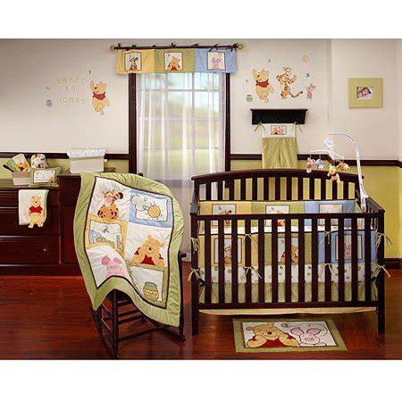 winnie the pooh nursery bedding sets disney baby winnie the pooh patch 4 crib bedding set walmart