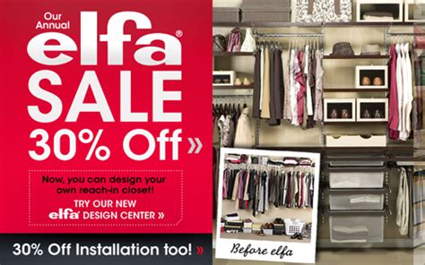 Elfa Closet Sale by New Year S Resolutions