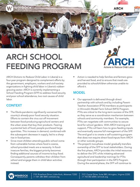 Letter For Feeding Program Winrock International 187 Liberia