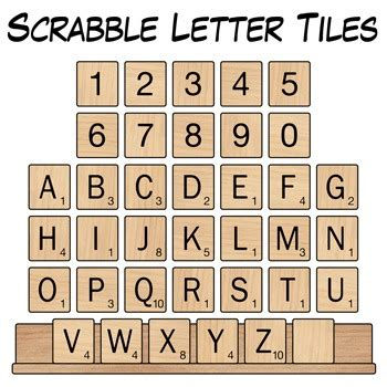 scrabble letter values scrabble letter tiles clip art by digital classroom 1615