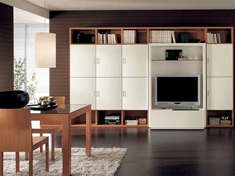 Drawing Room Interior Design Ideas - big storage unit with tv ipc197 wall storage cabinets