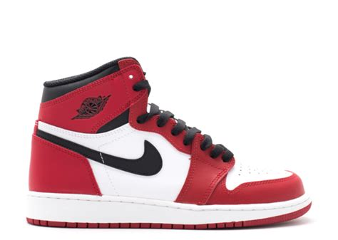 Nike Air 1 Retro High White Chicago air 1 retro high og bg gs quot chicago quot white black