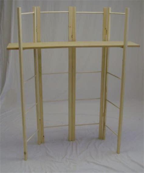 dowel display 4 panels with 1 shelf folds flat new