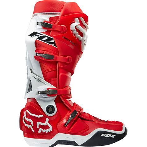 dirt bike boots fox racing 2016 mx gear instinct white