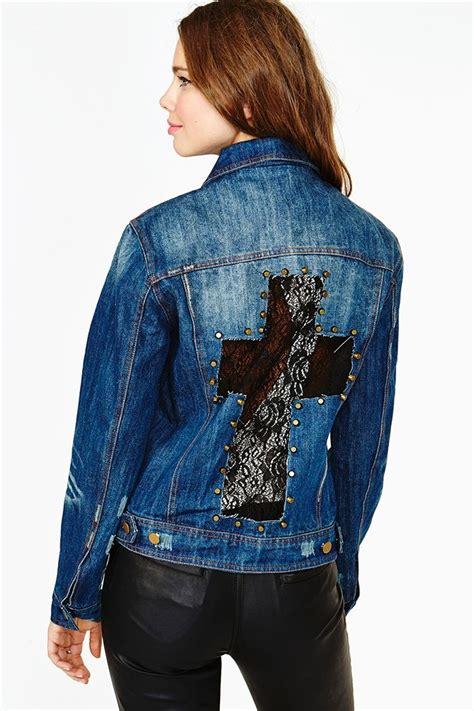 diy denim jacket from diy lace cross denim jacket diy fashion