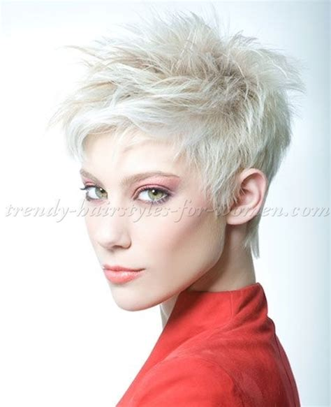 short hairstyles platinum blonde short spiky hairstyle