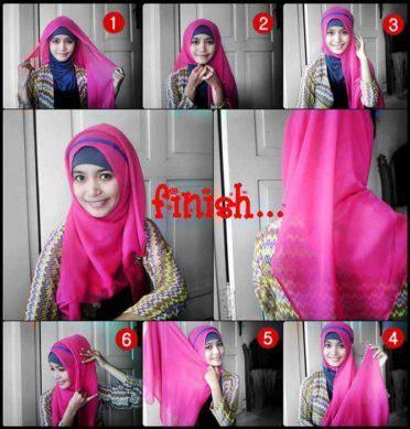 Variasi Jilbab Segi Empat grosir inner ciput jilbab baju muslim gamis