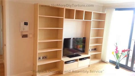 ikea billy benno tv stand with storage youtube