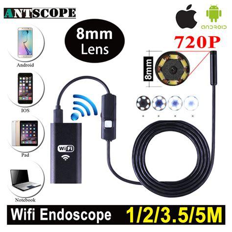 Endoscope Kamera Android 8mm 4cm 3 5m 720p Ip67 Waterproof antscope 1m 2m 5m wifi endoscope android 720p iphone borescope waterproof