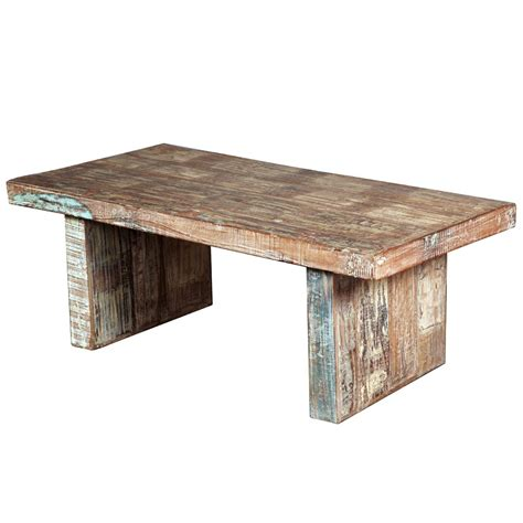 distressed wood coffee table rustic mission reclaimed wood distressed coffee table