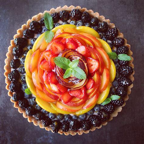 Rainbow Tart rainbow fruit tart