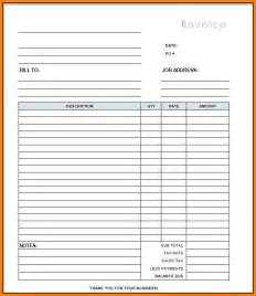 3  blank construction invoice template   cashier resumes