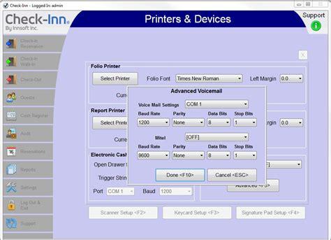 check inn hotel software voice mail interface for check inn innsoft
