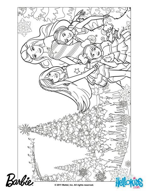coloring pages of barbie christmas barbie in a perfect christmas coloring pages barbie s