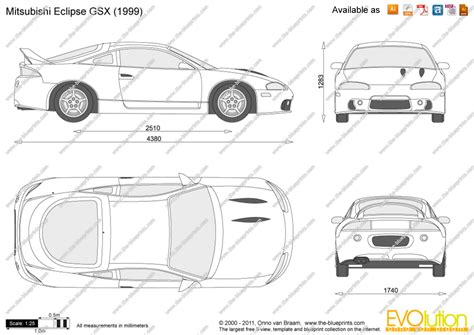 mitsubishi eclipse drawing the blueprints com vector drawing mitsubishi eclipse gsx