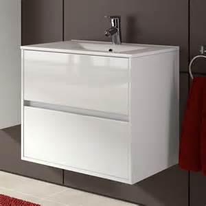 meuble salle de bain 70 cm 2 tiroirs vasque porcelaine
